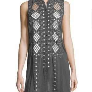Johnny Was | Sleeveless Tunic Button-front S